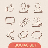 Communication symbols set. Stock Photography