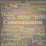 Communication. Tag cloud communication. color abstraction Royalty Free Stock Photo