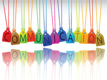 Communication tags Royalty Free Stock Photography
