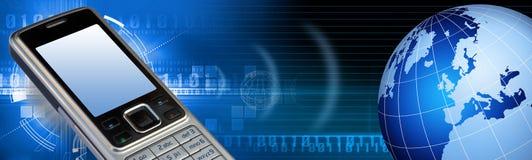 Communication tech banner Stock Photo
