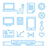 Communication technology devices web icons Royalty Free Stock Images