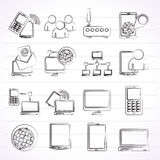 Communication and technology equipment icons Stock Photo