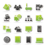 Communication and technology equipment icons. Vector icon set Royalty Free Stock Photos
