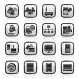 Communication and technology equipment icons. Vector icon set Stock Photos
