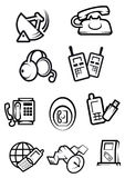 Communication technology for home and office icons Royalty Free Stock Photography