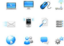 Communication technology icon collection Royalty Free Stock Images