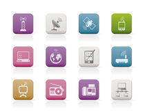 Communication and technology icons Royalty Free Stock Photos