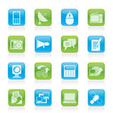 Communication and Technology icons. Vector Icon Set Royalty Free Stock Photos