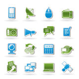 Communication and Technology icons. Vector Icon Set Stock Photo
