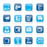 Communication and Technology icons Royalty Free Stock Images