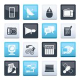 Communication and Technology icons over color background. Vector Icon Set vector illustration