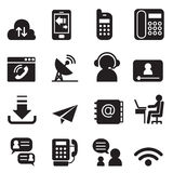 Communication Technology icons set 2. Vector illustration Graphic Design Stock Image