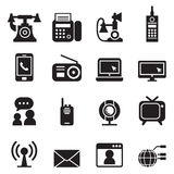 Communication Technology icons set Vector. Communication Technology icons set  Vector illustration Graphic Design Stock Images