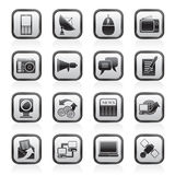 Communication and Technology icons Stock Image