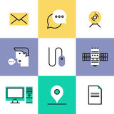 Communication technology pictogram icons set Royalty Free Stock Photography