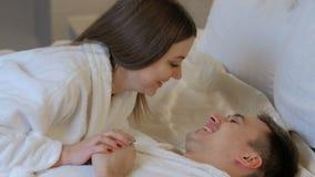 Communication tender love bond happy relationship stock footage