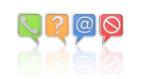 Communication theme - icons set Royalty Free Stock Photos