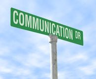 Communication Themed Street Sign Royalty Free Stock Photos