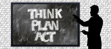 Communication think plan act Stock Photography