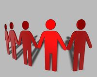 Communication, togetherness concept idea with 3d team. Communication, togetherness concept idea with 3d people Stock Image
