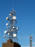 Communication tower. Radio,tv,internet communication tower Royalty Free Stock Photography