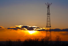 Communication Tower. Royalty Free Stock Images