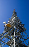 Communication Tower. A communication tower for TV, Radio and cellular telephony under a blue Summer sky Royalty Free Stock Image