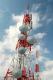 Communication Tower. Picture of communication tower under a bright sky symbolizing a clear communication Stock Images