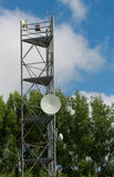 Communication Tower. Modern technology world with live in today Stock Images