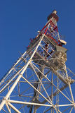 Communication tower. Multi antenna communications tower with tv, radio, cellphones, telephones microwave data links etc Stock Images