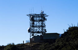 Communication Tower Against Blue Sky Mount Diablo California Stock Photography