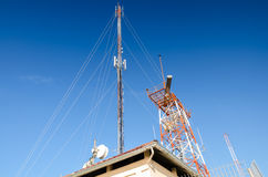 Communication Tower with Antenna Royalty Free Stock Photography