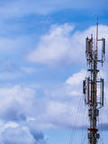 Communication tower. With antennas Royalty Free Stock Images