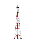 Communication Tower with Antennas Stock Photos