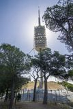 Communication tower from Barcelona Royalty Free Stock Photos