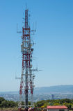Communication tower in Barcelona Royalty Free Stock Photo