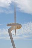 Communication Tower in Barcelona Spain Stock Images