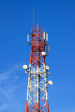 Communication tower. With blue sky Stock Image