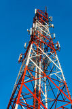 Communication tower. With blue sky background Stock Photo