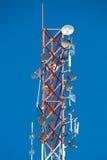 Communication Tower on blue sky background Stock Image