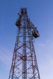 The communication tower on bluesky background Stock Image