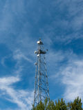 Communication tower. The communication tower in Cape Kolka in Latvia royalty free stock photo