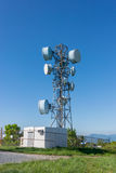 Communication Tower on Clear Day Stock Photos