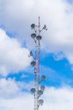 Communication tower, high power wifi antenna post hotspot long range Stock Photo