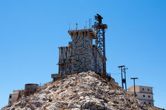Communication-tower on a hill in Santorini Stock Photography