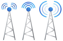 Communication Tower - Illustration Royalty Free Stock Images
