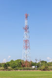 The communication tower located in countryside, globalization co Stock Photos