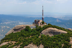 Communication tower in Montserrat mountain Stock Image