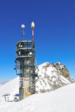 The communication tower. Of mount Titlis Stock Photography