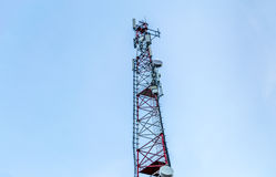 Communication tower. On the mountain Royalty Free Stock Images